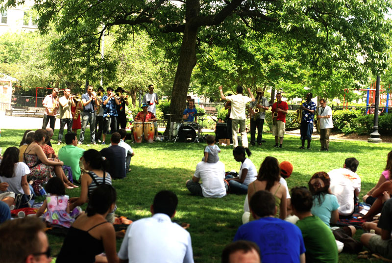 Washington : Concert à Kalorama Park